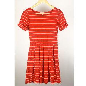 Anthropolgie | Bordeaux Red Scalloped Dress - S/P